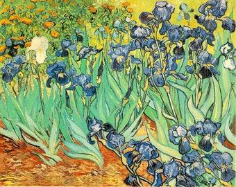 ORIGINAL AESTHETIC WASHABLE and tough semi-rigid PLACEMAT / Vincent van Gogh / bis Iris.