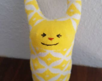 Happy Yellow Sock Doll