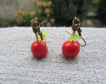 "Earrings ""my apples"" - bronze"