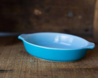 Vintage Pyrex 700 Horizon Blue Pixie Mini Casserole Dish
