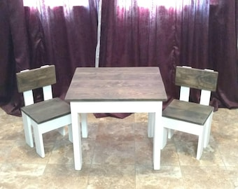 Modern Farmhouse Children's Table and Chairs (FREE Shipping!)