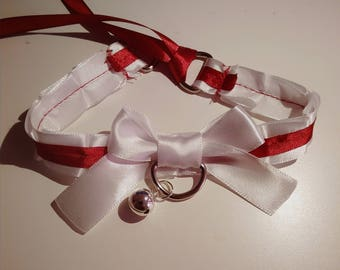 Ardent- Red and white kitten play collar
