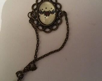 "Bracelet in bronze ""bird rockabilly"""