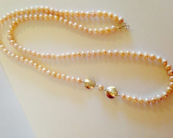 Blush Pink Freshwater Pearl Necklace