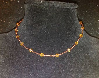 Authentic Swarvoski Crystals handmade Necklace