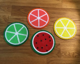 Fruity coasters citrus