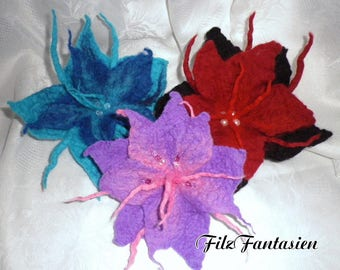 Large flower felt flower felt flower hair jewelry hair tie