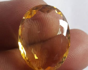 1 Piece, 100% Natural Citrine Oval Shape Faceted cut, Citrine Faceted Oval Cut, Loose Gemstone Beads, 21x17mm Size, Faceted Citrine