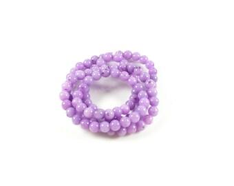 20 Jade Mashan 4mm purple beads