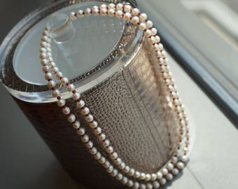 Genuine fresh water peal and ruby necklace