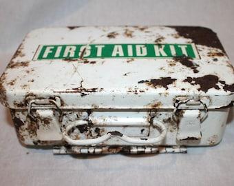 1970s Steel First aid kit Box