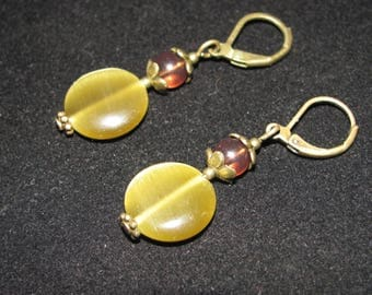 Antique inspired bronze earrings