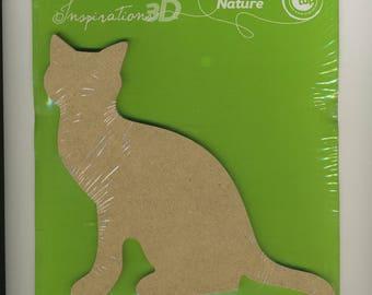 Grand chat silhouette  à peindre, wooden cat to customize, loisirs enfant, loisirs créatifs, jeu, cadeau enfant