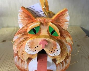 Handmade Cat Birdhouse