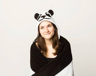 Adult Hooded Panda Costume   Perfect for Halloween, AOII, Parties, Tailgates & Festivals
