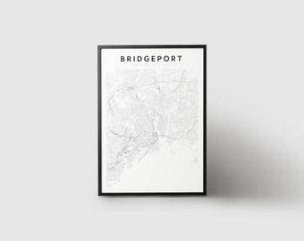 Bridgeport Map Print