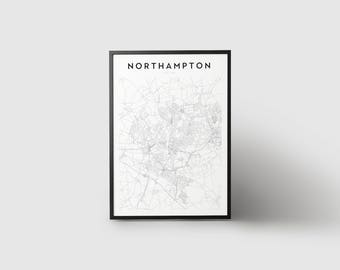 Northampton Map Print