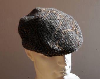 Men Brown wool winter hat size S, M, XL