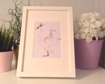 Nursery wall art/ Magical/ swan princess / nursery prints/ watercolour/ watercolor painting/ print/ wall art/ kids decor