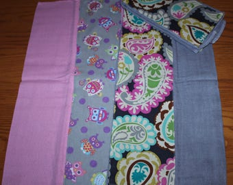 Set of 3 Homemade Burp Cloth
