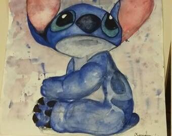 stitch watercolor
