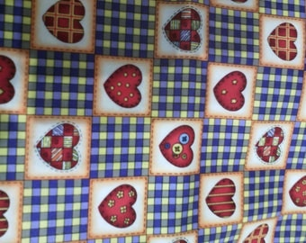 FABRIC PRINTS OF RED HEART