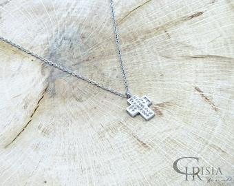 Cross necklace, Silver cross, Cross, Cross Pendant, Tiny Cross Necklace, Cross Charm, Cross Jewelry, Delicate Necklace, Pendant Necklace