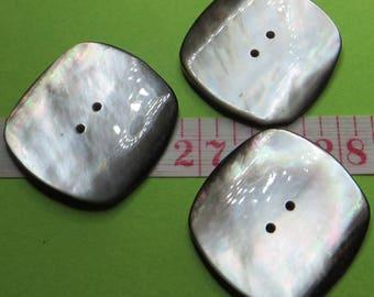 Square grey Pearl, 2.7 cm (3) - #5692_27