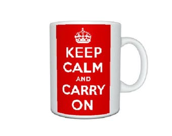 Personalised Mug..Keep Calm and Carry On