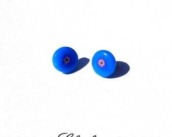 Fancy blue original Stud Earrings