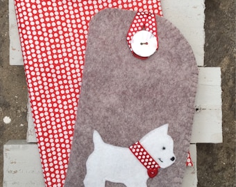 Westie glasses case
