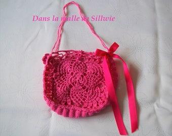 mini bag Fuchsia crochet