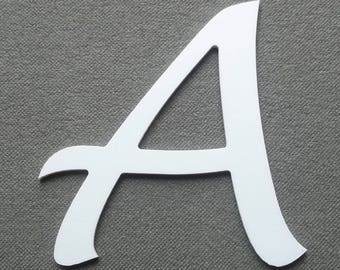 Letter PVC plastic model LUCIDA HANDWRITING; all letters available