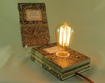 "Book lamp ""The art of old Mexico"""