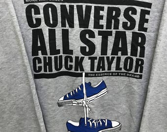 Rare!!! Converse Sweatshirt Pullover Spellout Shoes Picture