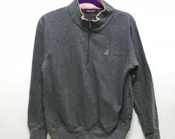 Rare!!! Kangol Sport Pullover Small Logo Embroidered Half Zipper