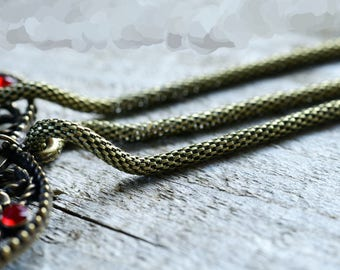 "50 cm chain ""snake"" ""Snake"" metal color bronze 2.5 mm wide"