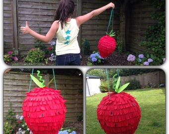 for the gourmet (s) Strawberry shaped piñata!