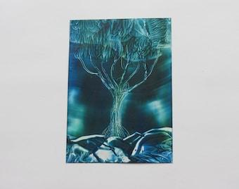 Electric Tree: Encaustic Art Painting