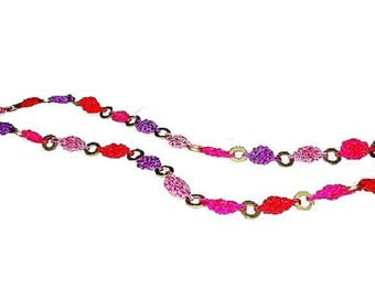 Necklace, necklace, purple, pink, fuchsia, recycled