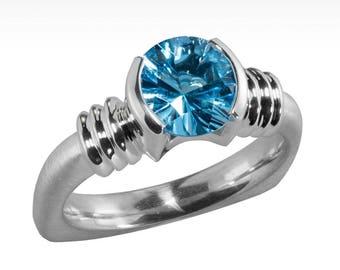 Little Black Dress Evolved Blue Topaz Ring in Argentium Silver