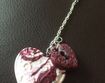 Heart and padlock assembled keychain!