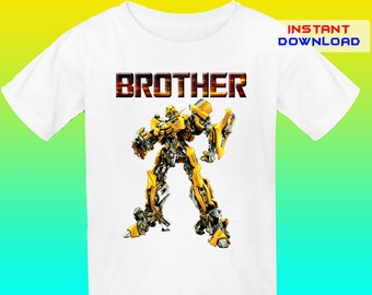 Brother, Transformers Iron On Transfer, Transformers Birthday Shirt Iron On Transfer, Digital File Only, Instant Download