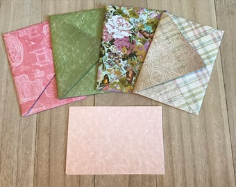 Elegant lined envelopes with notecards