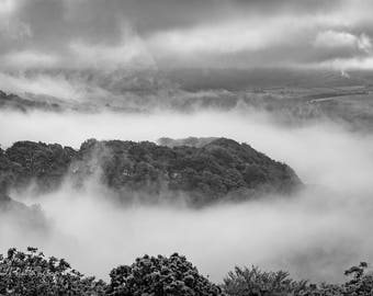 Misty morning above Cornholme, Todmorden (photograph)