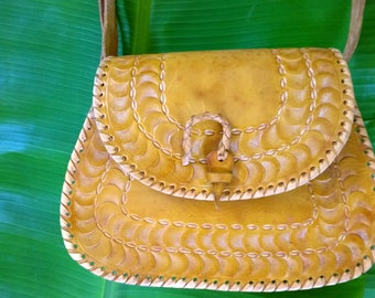 Hello Sunshine Crossbody Leather Bag