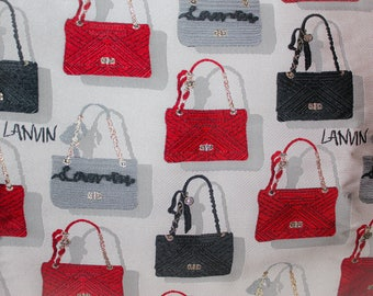 Fabric jacquard patterns bags