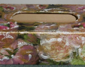 Gorgeous Sant Valentine tissue wooden box with papers Colleesses napkins