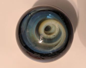 Floating over the Event Horizon (glass vortex marble)