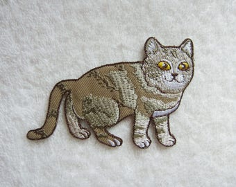 Cat Iron On Patch Embroidered Patch Applique Patches For Jackets
